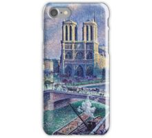 Maximilien Luce Notre Dame De Paris 1900  iPhone Case/Skin