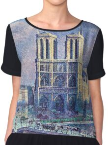 Maximilien Luce Notre Dame De Paris 1900  Chiffon Top
