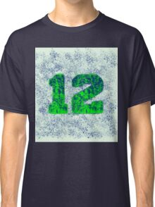 Abstract Team Spirit - Blue On Green Classic T-Shirt