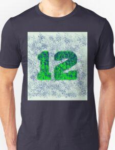 Abstract Team Spirit - Blue On Green Unisex T-Shirt
