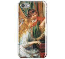 Renoir Auguste - Girls At The Piano 1892 iPhone Case/Skin