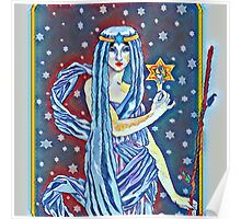 Tarot The Hermit impressions Poster