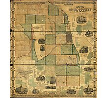 Map of Cook County, Illinois (1861) Photographic Print