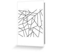 Simple Modern Black and White Geometric Pattern Greeting Card