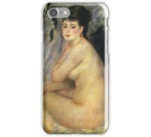 Renoir Auguste - Nude Seated On A Sofa 1876 iPhone Case/Skin