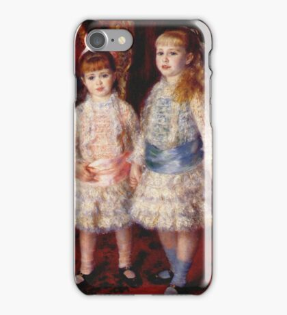 Renoir Auguste - Pink And Blue 1881 iPhone Case/Skin