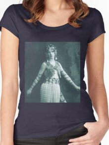 Vintage Dancing Girl classic photograph Women's Fitted Scoop T-Shirt