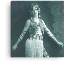 Vintage Dancing Girl classic photograph Canvas Print