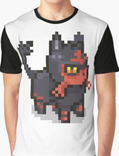 POKEMON LITTEN Pixel Spritelike Graphic T-Shirt