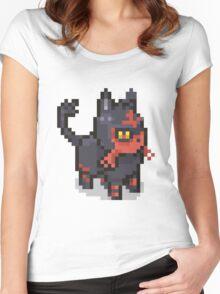 POKEMON LITTEN Pixel Spritelike Women's Fitted Scoop T-Shirt