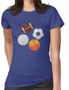 Sports Balls (Icons) Womens Fitted T-Shirt