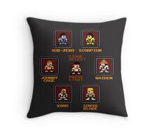 8-bit Mortal Kombat 'Megaman' Stage Select Screen Throw Pillow