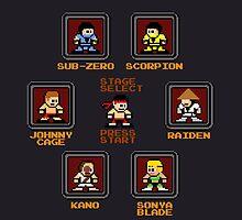 8-bit Mortal Kombat 'Megaman' Stage Select Screen by groundhog7s