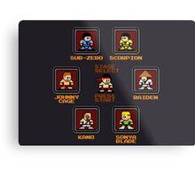 8-bit Mortal Kombat 'Megaman' Stage Select Screen Metal Print