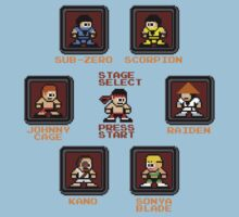 8-bit Mortal Kombat 'Megaman' Stage Select Screen Kids Clothes