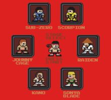8-bit Mortal Kombat 'Megaman' Stage Select Screen One Piece - Short Sleeve
