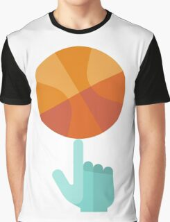 Basketball Spin Icon Graphic T-Shirt