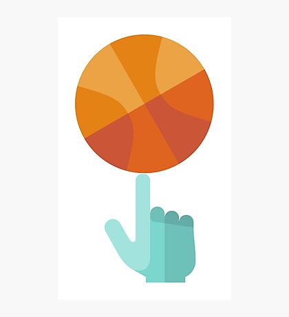 Basketball Spin Icon Photographic Print