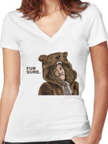 Fur Sure - Workaholics Women's Fitted V-Neck T-Shirt