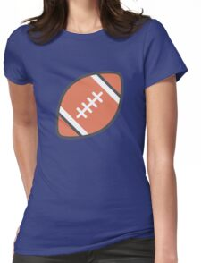 Brown Football Art Icon Womens Fitted T-Shirt