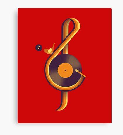 Retro Music Canvas Print