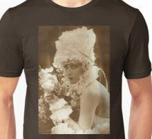 Portrait of a vintage French actress  Unisex T-Shirt