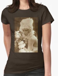 Portrait of a vintage French actress  Womens Fitted T-Shirt