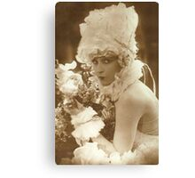 Portrait of a vintage French actress  Canvas Print