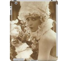 Portrait of a vintage French actress  iPad Case/Skin