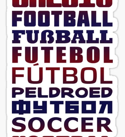 Soccer in Different Languages Sticker