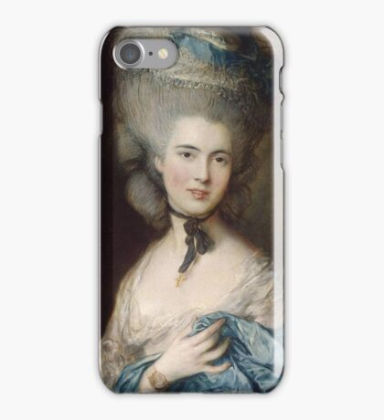 Thomas Gainsborough - Portrait Of A Lady In Blue iPhone Case/Skin