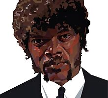 SAMUEL L. JACKSON PULP FICTION GRAPHIC TSHIRT by danielgalanaugh