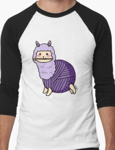 Yarn Alpaca - Purple Men's Baseball ¾ T-Shirt