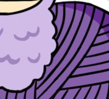 Yarn Alpaca - Purple Sticker