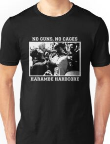 Harambe Hardcore - White Text Unisex T-Shirt