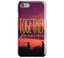Together Forever Couple on Lavender Field Sunset iPhone Case/Skin