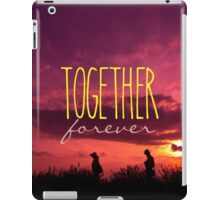 Together Forever Couple on Lavender Field Sunset iPad Case/Skin