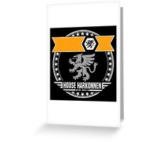 House Harkonnen Crest (Dark) Greeting Card