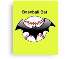 Baseball Bat Flying Bat Canvas Print