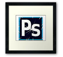 Breaking Photoshop Framed Print