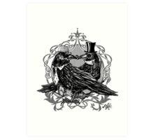 Victorian Crows Art Print