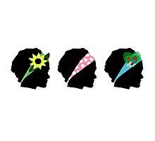 Headband Silhouettes Photographic Print