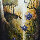 Clematis and the Corkscrew Hazel by Peter Maudsley