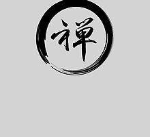 Enso Circle w/ Calligraphy of Zen Symbol by cinn