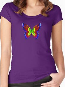 nick mason butterfly tee Women's Fitted Scoop T-Shirt