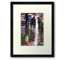 colorful umbrellas in Rome Framed Print