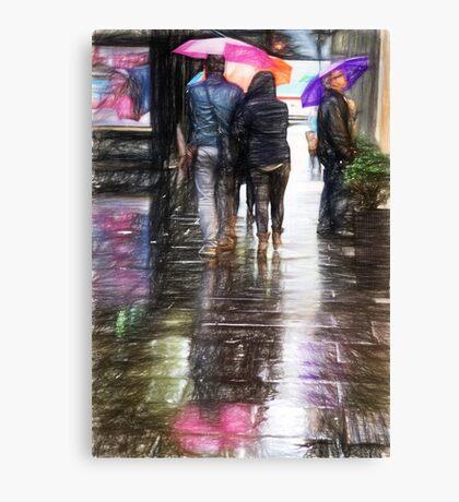colorful umbrellas in Rome Canvas Print