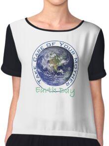 Earth Day Chiffon Top