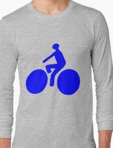 Blue bike Long Sleeve T-Shirt