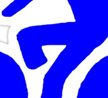 Blue bike Sticker